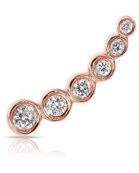Anne Sisteron - 14kt Rose Gold Diamond Mini Shooting Star Ear Climber - Lyst