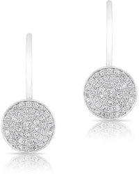 Anne Sisteron - 14kt White Gold Mini Diamond Disc Wireback Earrings - Lyst