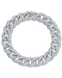 Anne Sisteron | 14kt White Gold Diamond Luxe Chain Link Bracelet | Lyst