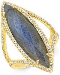 Anne Sisteron | 14kt Yellow Gold Diamond Labradorite Alexis Ring | Lyst
