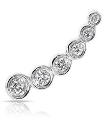 Anne Sisteron - 14kt White Gold Diamond Mini Shooting Star Ear Climber - Lyst
