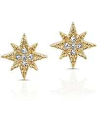 Anne Sisteron - 14kt Yellow Gold Diamond North Star Stud Earrings - Lyst