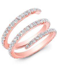 Anne Sisteron - 14kt Rose Gold Diamond Spring Ring - Lyst