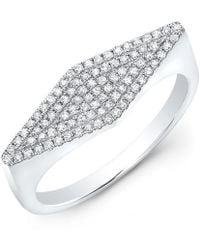 Anne Sisteron - 14kt White Gold Diamond Kite Ring - Lyst