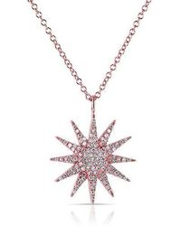 Anne Sisteron - 14kt Rose Gold Diamond Glimmer Necklace - Lyst