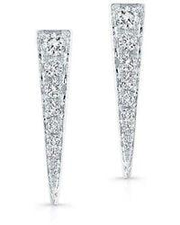 Anne Sisteron - 14kt White Gold Diamond Dagger Earring - Lyst