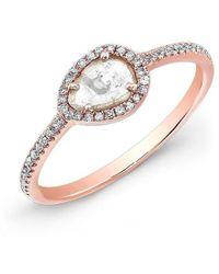 Anne Sisteron - 14kt Rose Gold Sasha Diamond Slice Ring - Lyst