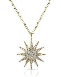 Anne Sisteron - 14kt Yellow Gold Diamond Glimmer Necklace - Lyst