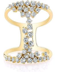 Anne Sisteron - 14kt Yellow Gold Diamond Lace Ring - Lyst