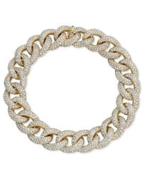 Anne Sisteron - 14kt Yellow Gold Diamond Luxe Chain Link Bracelet - Lyst