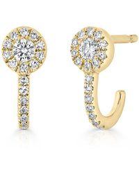Anne Sisteron - 14kt Yellow Gold Diamond Henrietta Earrings - Lyst
