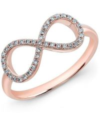 Anne Sisteron - 14kt Rose Gold Diamond Large Infinity Ring - Lyst
