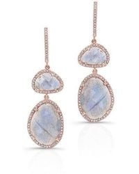Anne Sisteron | 14kt Rose Gold Labradorite Diamond Splendor Earrings | Lyst