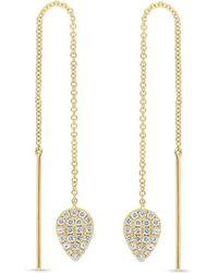 Anne Sisteron - 14kt Yellow Gold Diamond Monaco Threader Earrings - Lyst