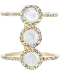 Anne Sisteron - 14kt Yellow Gold Triple Diamond Slice H Ring - Lyst