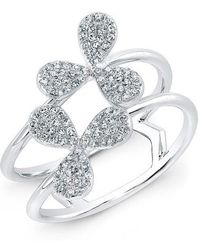 Anne Sisteron - 14kt White Gold Diamond Daisy Flower Ring - Lyst
