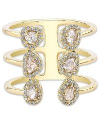 Anne Sisteron - 14kt Yellow Gold Diamond Slice Electric Ring - Lyst