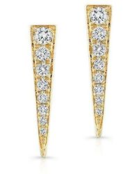 Anne Sisteron - 14kt Yellow Gold Diamond Dagger Earring - Lyst
