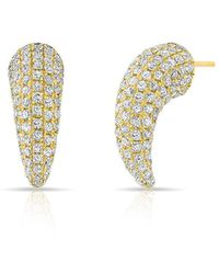 Anne Sisteron - 14kt Yellow Gold Diamond Talon Stud Earrings - Lyst