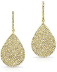 Anne Sisteron - 14kt Yellow Gold Diamond Large Pear Shaped Earrings - Lyst