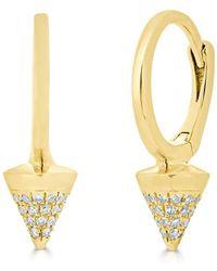 Anne Sisteron - 14kt Yellow Gold Diamond Luxe Spike Nia Huggie Earrings - Lyst