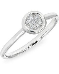 Anne Sisteron - 14kt White Gold Pave Diamond Disc Ring - Lyst