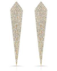 Anne Sisteron - 14kt Yellow Gold Diamond Spear Earrings - Lyst