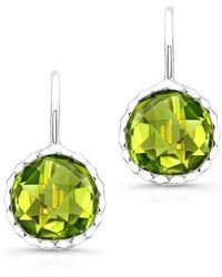 Anne Sisteron - 14kt White Gold Peridot Earrings - Lyst