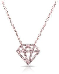 Anne Sisteron | 14kt Rose Gold Bling Diamond Necklace | Lyst