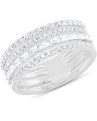 Anne Sisteron - 14kt White Gold Diamond Baguette Eternity Ring - Lyst