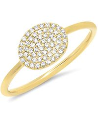 Anne Sisteron - 14kt Yellow Gold Diamond Pave Oval Ring - Lyst