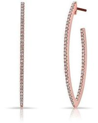 Anne Sisteron - 14kt Rose Gold Diamond Moderna Wishbone Earrings - Lyst
