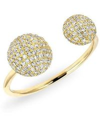 Anne Sisteron - 14kt Yellow Gold Diamond Double Bouton Ring - Lyst