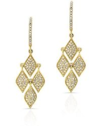 Anne Sisteron - 14kt Yellow Gold Diamond Mini Marquis Earrings - Lyst