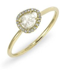 Anne Sisteron - 14kt Yellow Gold Diamond Slice Solace Ring - Lyst