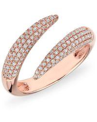 Anne Sisteron - 14kt White Gold Diamond Horn Embrace Ring - Lyst