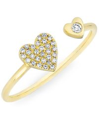Anne Sisteron - 14kt Rose Gold Diamond Crossover Circuit Ring - Lyst