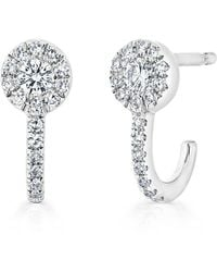 Anne Sisteron - 14kt White Gold Diamond Henrietta Earrings - Lyst