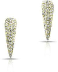 Anne Sisteron - 14kt Yellow Gold Diamond Horn Stud Earrings - Lyst