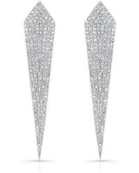 Anne Sisteron - 14kt White Gold Diamond Spear Earrings - Lyst
