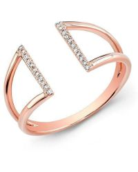 Anne Sisteron - 14kt Rose Gold Diamond Space Ring - Lyst