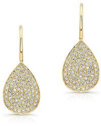 Anne Sisteron - 14kt White Gold Diamond Small Pear Shaped Earrings - Lyst