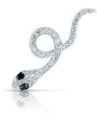 Anne Sisteron - 14kt White Gold Black Diamond Snake Ear Climber - Lyst