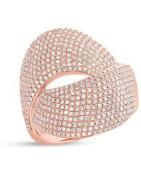 Anne Sisteron - 14kt Rose Gold Diamond Luxe Twist Ring - Lyst