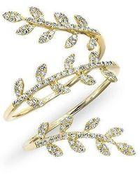 Anne Sisteron - 14kt Yellow Gold Diamond Vine Wrap Ring - Lyst