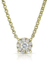 Anne Sisteron - 14kt Yellow Gold Diamond Round Necklace - Lyst