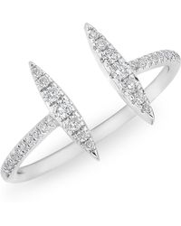 Anne Sisteron | 14kt White Gold Diamond Double Tower Ring | Lyst
