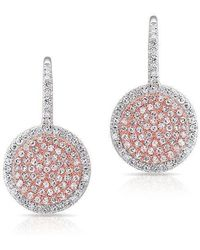 Anne Sisteron - 14kt White Gold And Rose Gold Diamond Disc Earrings - Lyst
