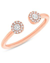 Anne Sisteron - 14kt Rose Gold Diamond Luxe Lexi Ring - Lyst