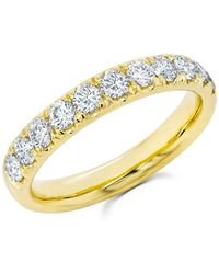 Anne Sisteron - 14kt Yellow Gold Luxe Lauren Half Diamond Ring - Lyst